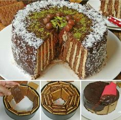 Spring cake pan and biscuits Sweet Recipes, Cake Recipes, Dessert Recipes, Pasta Cake, Arabic Food, Turkish Recipes, Sweet Cakes, No Bake Cake, Amazing Cakes
