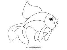 Pesce da colorare per bambini - TuttoDisegni.com