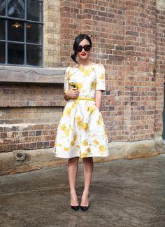 Nicole Warne of Gary Pepper. Cute sleeves and lemon pattern