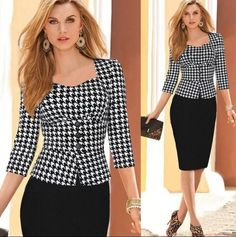 New 2015 Women Pencil Casual Office Dress Collection