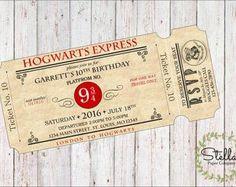 Harry Potter Hogwarts Acceptance Letter and Hogwarts Express
