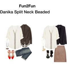 Danika Split Neck Beaded Blouse