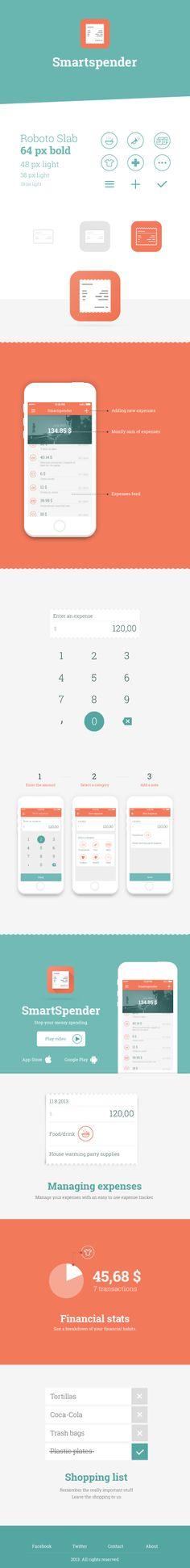 Smartspender - Stop your messy spending by Ivan Bjelajac #mobile #app #design