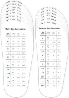 nike free women's vs men's shoe chart