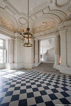 """thestandrewknot: """"  Vestibule Central, Château de Maisons, Maisons-Laffitte…"""