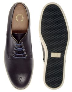 Fred Perry Laurel Wreath Perkins Leather Shoes