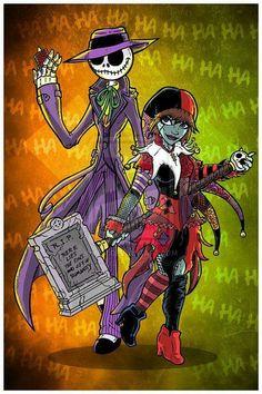 Joker & Harley / Jack & Sally
