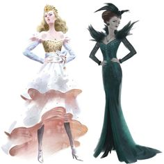 Concept design for Glinda and Evanora in the new Oz The Great and Powerful movie.