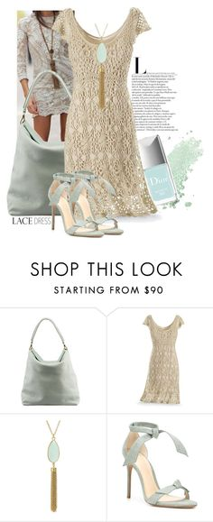 """Lace Dress Fashion"" by mrs-rc ❤ liked on Polyvore featuring Burberry and Alexandre Birman"