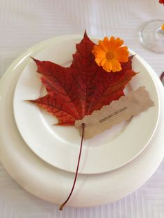 Осенняя свадьба. Рассадочные карточки - осенние листики