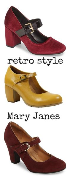 These will look great with dresses from the 1930s, 1940s and 1950s plus more contemporary dresses. I love the block heels and the rich colours. Practical thought -that strap will hold you in when dancing! #maryjanes #maryjaneshoes #retroshoes #ad #vintageshoes #bridesmaidshoes #nordstrom