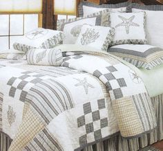 Hightide Shells by C & F Luxury Quilts at Bedding Super Store.com