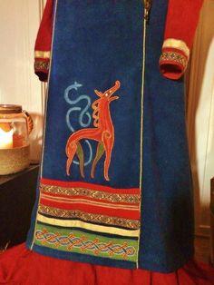 Detail on Viking dress by Toril Sørbøe Rojahn from Norway