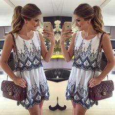 """{Sunday} Vestido inteiro bordado by @bazzarmodernooficial  Disponível www.bazzarmoderno.com.br • #lookdodia #lookoftheday #ootd #selfie #blogtrendalert"""
