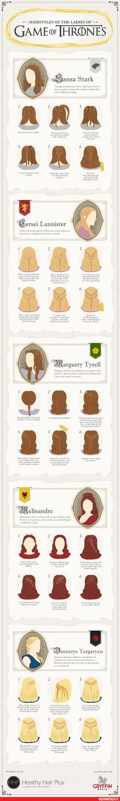 I don't watch Game of Thrones but these are cool hair styles