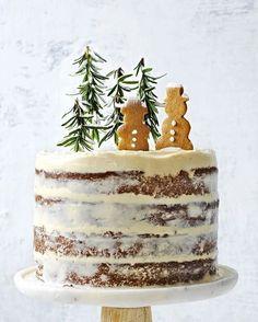 украшение торта имбирными пряниками