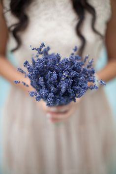lavender bridesmaid bouquet http://www.weddingchicks.com/2013/10/16/rainy-day-georgian-wedding/
