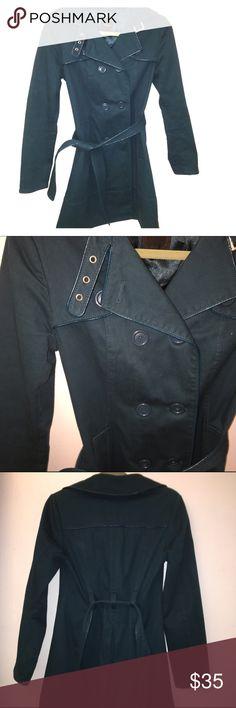 Aqua trench coach Beautiful color Express Jackets & Coats Trench Coats