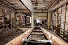 near using ladders to climb down a deep shaft. Daylesford, Climbing, Fields, Ladders, Explore, Caves, Hard Rock, World, Tech