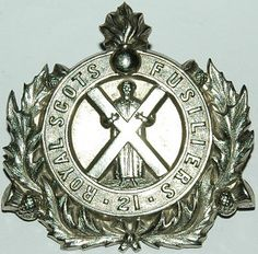 ROYAL SCOTS FUSILIERS 2nd PATTERN PIPERS BADGE British Army, British Isles, Bonnet Cap, Army Hat, Military Uniforms, Cold Steel, Military History, Tartan, Scotland