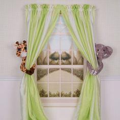 jungle theme fabric | african, jungle, savannah themes in kids room interior-Soooo cute!