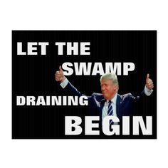 If he's draining a swamp it's just to build a flimsy structure on top to sell to the gullible. Believe me, he's a sleazy con artist and that's all he'll ever be. He's in this to fill his pockets and screw anyone stupid enough to believe he cares about them.