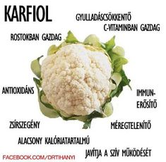 Életmód cikkek : Zöldség és gyümölcsök hatásai Health 2020, Medicinal Plants, Superfoods, How To Lose Weight Fast, Cauliflower, Healthy Lifestyle, Food And Drink, Health Fitness, Healthy Eating