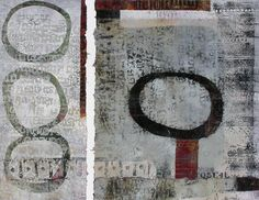 Ascending Order, 2013, Anne Moore, monotypes, 17.5 x 22.5 in. block, Dana Point, California, USA.
