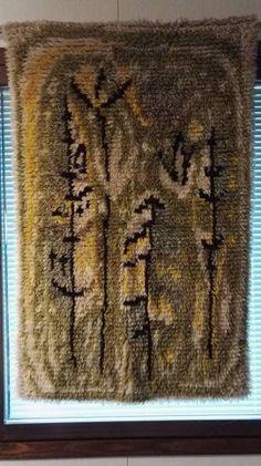Rya Rug, Wall Hangings, Art Deco, Textiles, Rugs, Knitting, Design, Eggs, Farmhouse Rugs