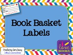 Book Bin Labels A Classroom Library