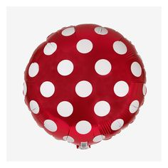 Ballon aluminium mylar à pois rouge