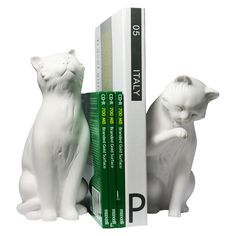 And while real cats are more likely to knock a book over instead of propping it up, we appreciate the bookshelf support from these two cuties. Danya B. Cement Cats Bookends, $19.49, available at Target. #refinery29 http://www.refinery29.com/2016/06/112703/cat-lady-home-decor-tips#slide-4