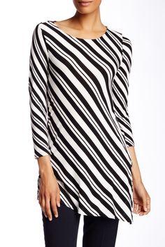 Arrow Stripe Asymmetrical Blouse  by Vince Camuto on @HauteLook