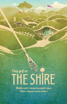 Lord of the Rings Travel Poster The Shire by TheGreenDragonInn
