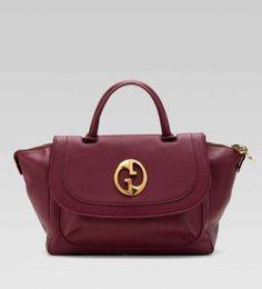 Gucci/1973 Top Handle Maroon Bag - Satchel $645