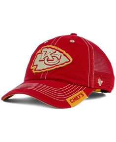47 Brand Kansas City Chiefs Turner Mesh Clean Up Cap Touca 94d46687588