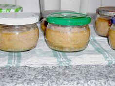 Gekochte Mettwurst Cooked Mettwurst, a nice recipe from the category preserving. Bottles And Jars, Mason Jars, German Sausage, Biltong, Filled Cookies, Yams, Pickles, Recipies, Sausage Recipes