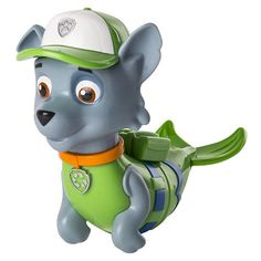 Make bath time way more fun with the Paw Patrol Bath Paddlin Pups! These mermaid pup figures really float in water, bringing playtime to the bath. Wind them up and they'll splash and swim across the water. This Rocky Merpup is ready to roll! Collect all of the Bath Paddlin Pups (each sold separately) and recreate your favorite Paw Patrol missions. Kids are sure to love bath time with the Paw Patrol Bath Paddlin Pups!<br><br>The Paw Patrol Bath Paddlin Pup Rocky Merpup Features...