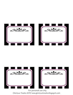 {Free Printable} French Party Labels » Glorious Treats