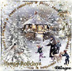 Merry Christmas To All, Christmas Scenes, Christmas Wishes, All Things Christmas, Winter Christmas, Vintage Christmas, Animated Christmas Pictures, Christmas Images, Christmas Artwork