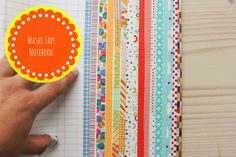 Washi tape project: a pretty notebook