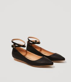 Wrap Around Ankle Strap Flats-Wrapping around not just once but twice, an ankle strap adds double the chic to this irresistible pair. The Perfect flat for Spring and Summer!
