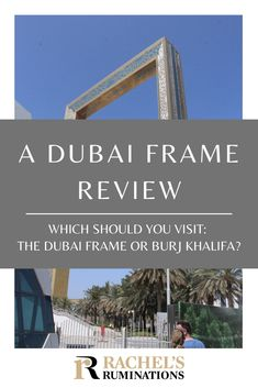 I thought the Dubai Frame was a large picture frame, a story or two tall, perfect for taking a picture of the glitzy Dubai skyline. I was wrong. Dubai Skyscraper, Dubai City, Dubai Uae, Big Picture Frames, Dubai Travel, How To Level Ground, Cool House Designs, Best Photographers, Culture Travel