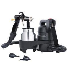 Electric Hvlp Air Spray Gun Kit 450W Paint Sprayer 1.0mm Nozzle DIY Tool 1000ml