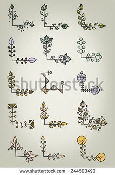 Hand Drawn Doodle Vector Book Corners                                                                                                                                                                                 More