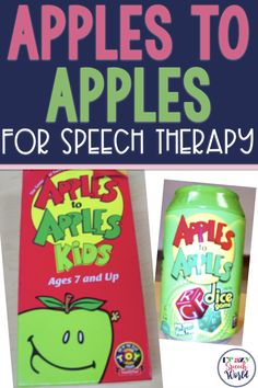 How I use Apples to Apples in speech therapy