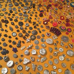 more Olham....original buttons.... True installation....#risdmuseum#toddoldham