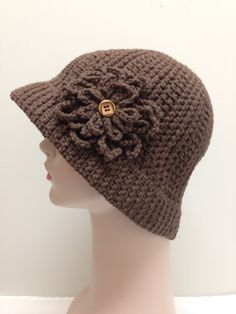 $25 Brown Cotton Sun Hat  Great for Cancer and Chemo Patients  by Mod Stitches on Etsy #HEPTEAM