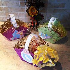 #regalispeciali, #Pasqua, #cestini #faidame, #scrapbooking