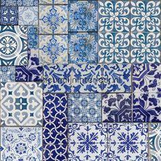 Oude Delfts blauwe tegeltjes behang 577111, Trends 2016 van Dutch Wallcoverings